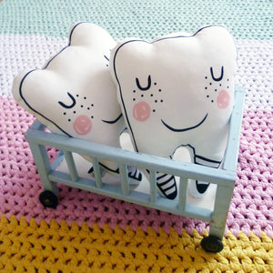 Tooth Fairy Cushion by Foxella and Friends - minifili