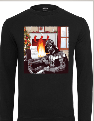 Active Hoodie Darth Vader Piano Sweat Shirt Black