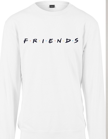 Active Hoodie Friends Logo Sweat Shirt White
