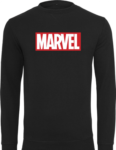 Active Hoodie Marvel Logo Sweat Shirt Black