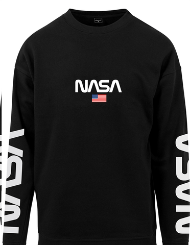 Active Hoodie NASA Official Sweat Shirt Black