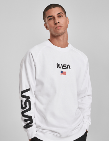 Active Hoodie NASA Official Sweat Shirt White