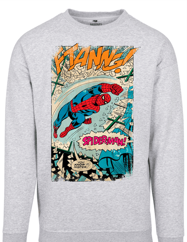Active Hoodie Spiderman Ftanng Sweat Shirt Grey
