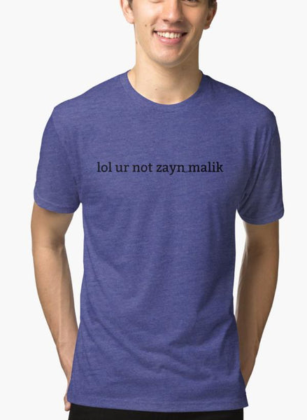 Ali Naqvi T-SHIRT LOL UR NOT ZAYN MALIK Purple T-shirt