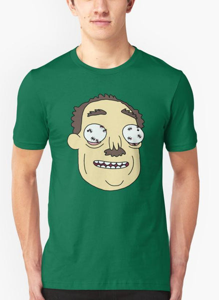 Ali Naqvi T-SHIRT Rick & Morty - Ants In My Eyes Green T-shirt
