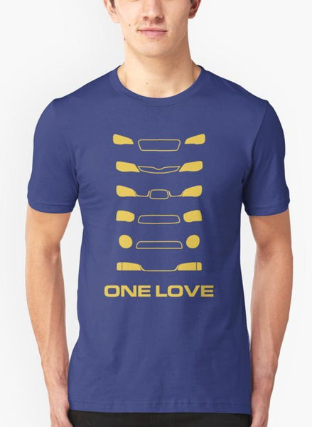 Ali Naqvi T-SHIRT Subaru Impreza - One love Purple T-shirt