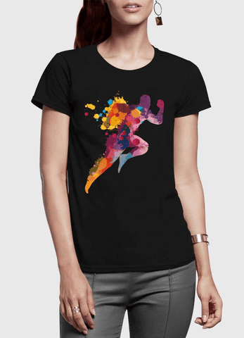 Aneeq Arshad T-shirt SMALL / Black Colors Are Coming Half Sleeves Women T-shirt