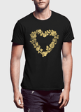Aneeq Arshad T-shirt SMALL / Black Flower Heart Half Sleeves T-shirt