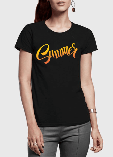 Aneeq Arshad T-shirt SMALL / Black Summer Half Sleeves Women T-shirt