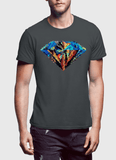 Aneeq Arshad T-shirt SMALL / Charcoal Abstract Super Logo Half Sleeves T-shirt