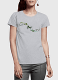 Aneeq Arshad T-shirt SMALL / Gray Abstract Simple Half Sleeves Women T-shirt