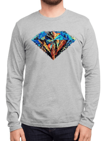 Aneeq Arshad T-shirt SMALL / Gray Abstract Super Logo Full Sleeves T-shirt