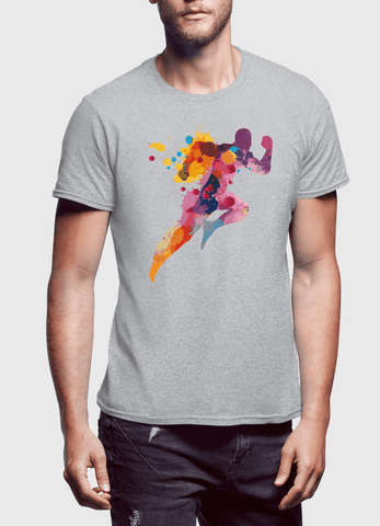 Aneeq Arshad T-shirt SMALL / Gray Colors Are Coming Half Sleeves T-shirt