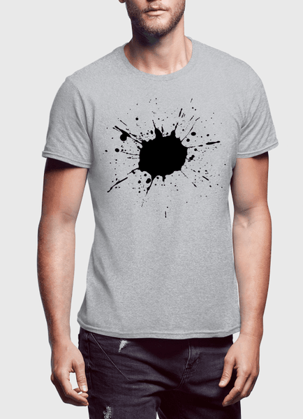 Aneeq Arshad T-shirt SMALL / Gray Splatter Half Sleeves T-shirt