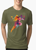 Aneeq Arshad T-shirt SMALL / Green Colors Are Coming Half Sleeves Melange T-shirt