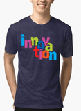 Aneeq Arshad T-shirt SMALL / Navy Innovation Half Sleeves Melange T-shirt