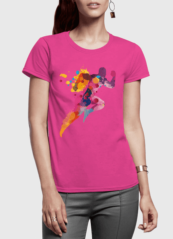 Aneeq Arshad T-shirt SMALL / Pink Colors Are Coming Half Sleeves Women T-shirt