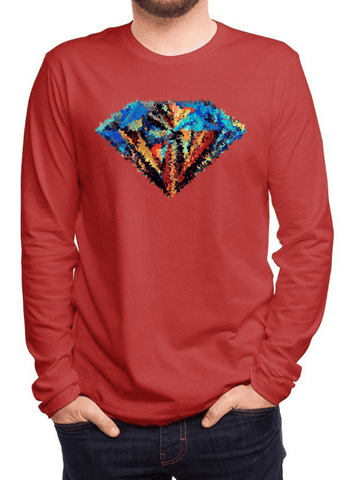 Aneeq Arshad T-shirt SMALL / Red Abstract Super Logo Full Sleeves T-shirt