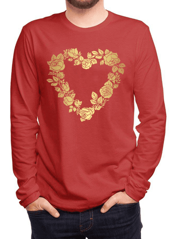 Aneeq Arshad T-shirt SMALL / Red Flower Heart Full Sleeves T-shirt
