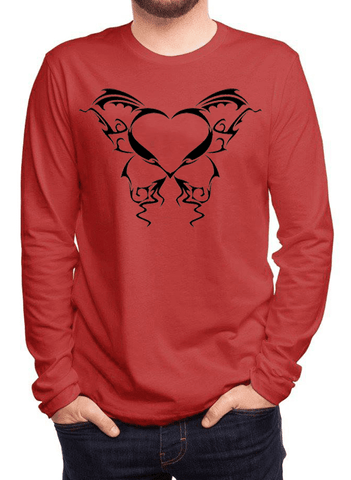 Aneeq Arshad T-shirt SMALL / Red Heart Tattoo Full Sleeves T-shirt