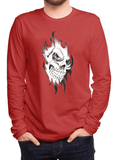 Aneeq Arshad T-shirt SMALL / Red Skull Sketch Full Sleeves T-shirt