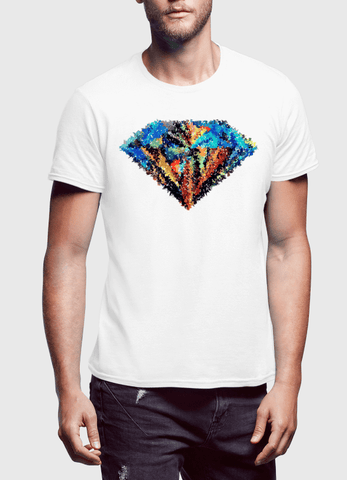 Aneeq Arshad T-shirt SMALL / White Abstract Super Logo Half Sleeves T-shirt