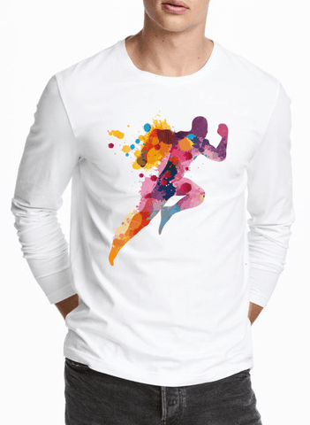 Aneeq Arshad T-shirt SMALL / White Colors Are Coming Full Sleeves T-shirt