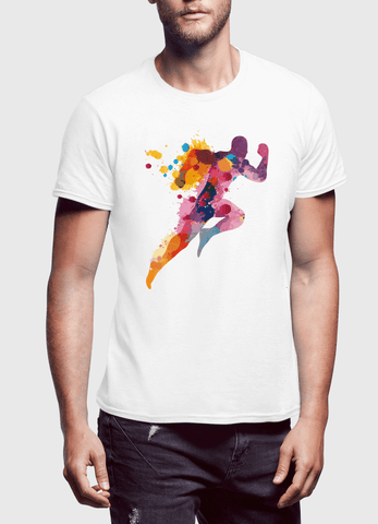 Aneeq Arshad T-shirt SMALL / White Colors Are Coming Half Sleeves T-shirt
