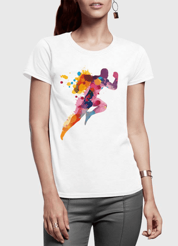 Aneeq Arshad T-shirt SMALL / White Colors Are Coming Half Sleeves Women T-shirt