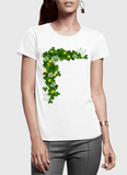 Aneeq Arshad T-shirt SMALL / White Floral Gold Half Sleeves Women T-shirt