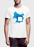 Aneeq Arshad T-shirt SMALL / White Paint Art Half Sleeves T-shirt