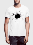 Aneeq Arshad T-shirt SMALL / White Splatter Half Sleeves T-shirt