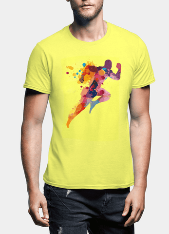 Aneeq Arshad T-shirt SMALL / Yellow Colors Are Coming Half Sleeves T-shirt