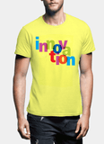 Aneeq Arshad T-shirt SMALL / Yellow Innovation Half Sleeves T-shirt
