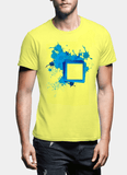 Aneeq Arshad T-shirt SMALL / Yellow Paint Art Half Sleeves T-shirt