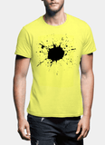 Aneeq Arshad T-shirt SMALL / Yellow Splatter Half Sleeves T-shirt