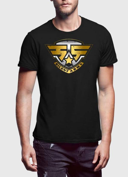 ARMY T-SHIRT US SILENT ARMY BLACK PRINTED TSHIRT