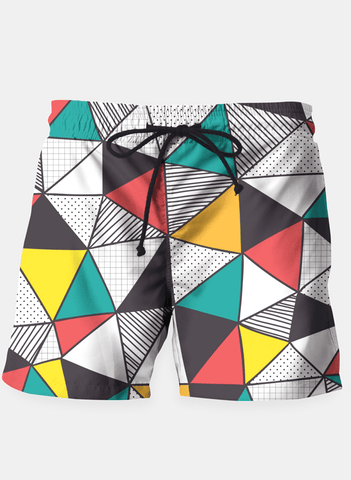 Ayaz Ahmed Shorts Geometric and colorful pattern Shorts