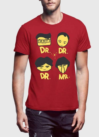 big bang theory T-SHIRT DR DR DR MR Printed Tshirt