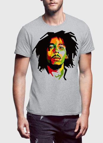 Bob Marley T-SHIRT Bob Marley Be Happy Half Sleeve Men T-Shirt