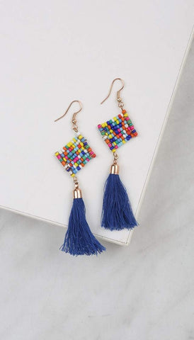 Chumbak India Accesories Tassel Bead-Azzle Earring