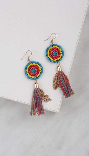 Chumbak India Accesories Tassel Me Happy Earring