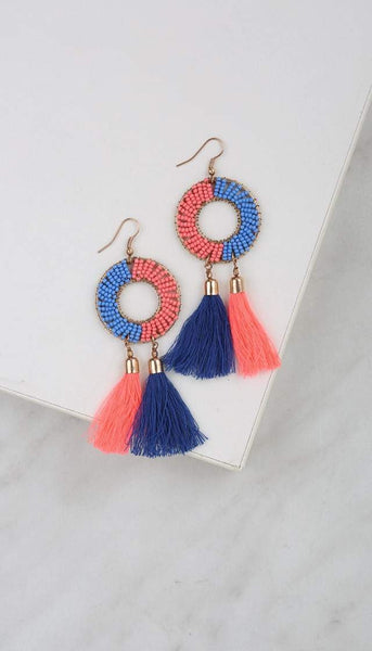 Chumbak India Accesories Tasselled Up Earrings