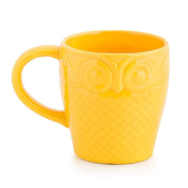 Chumbak India Mug Forest Owl Mug - Yellow