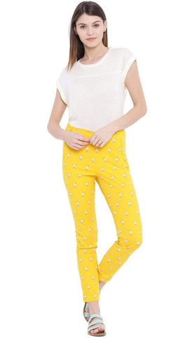 Chumbak India Pants Dodoism Yellow Fitted Pant