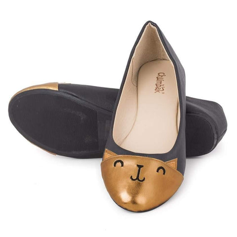 Chumbak India Shoes Check Meow-T Ballerinas
