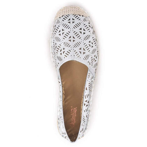 Chumbak India Shoes Metallic Geometric Silver Espadrilles