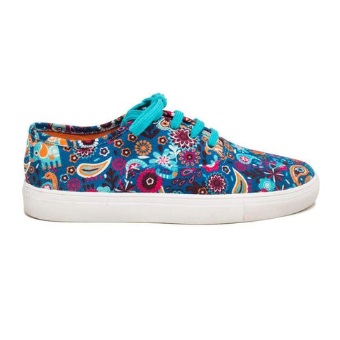 Chumbak India Shoes Paisley Party Canvas Shoe