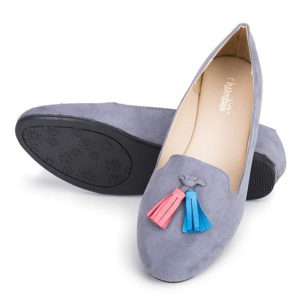 Chumbak India Shoes Tassellate Grey Loafers
