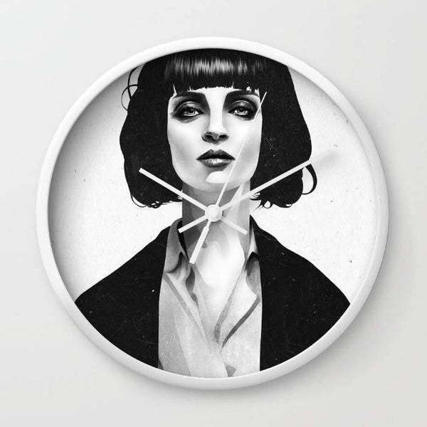 Dany Designs Wall Clock Mrs Mia Wallace Wall clock
